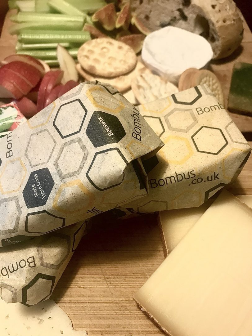 BombusLeaf Beeswax Paper wrapping various cheese