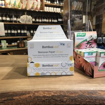 Beeswax Paper Wrap in store display