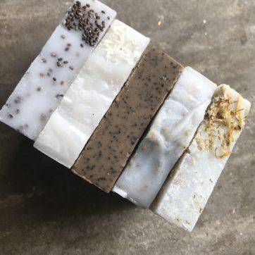 The Ultimate Hand and Body Soap Scrub Gift Box : 1 x each soap scrub
