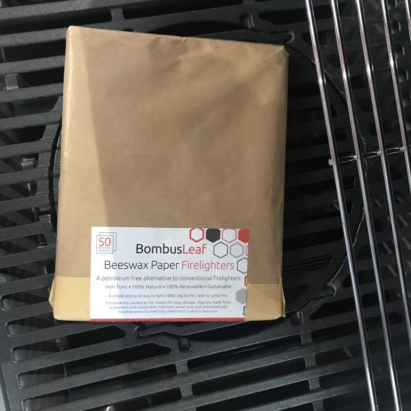 Beeswax Firelighters Flat on Grill