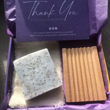 Soap Scrub Gift Box Chia and Peppermint