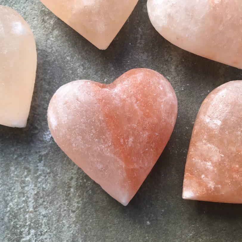 Himalayan Pink Salt Deodorant Hearts