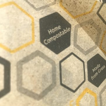 Close up beeswax wrap - Home Compostable