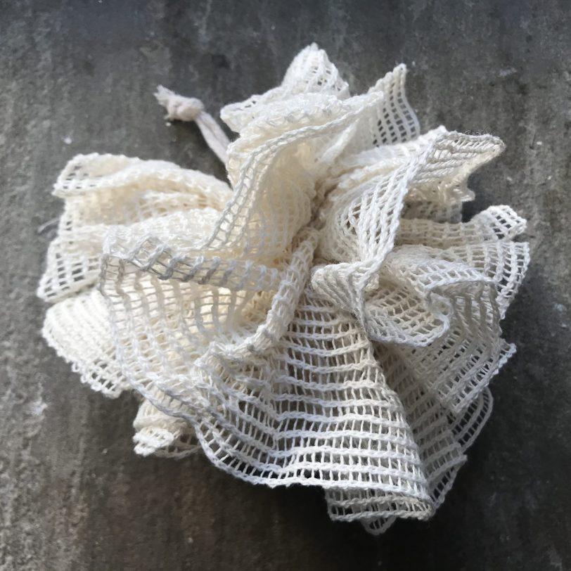 Organic unbleached cotton pouf