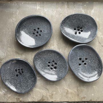 Black ceramic soap dishes